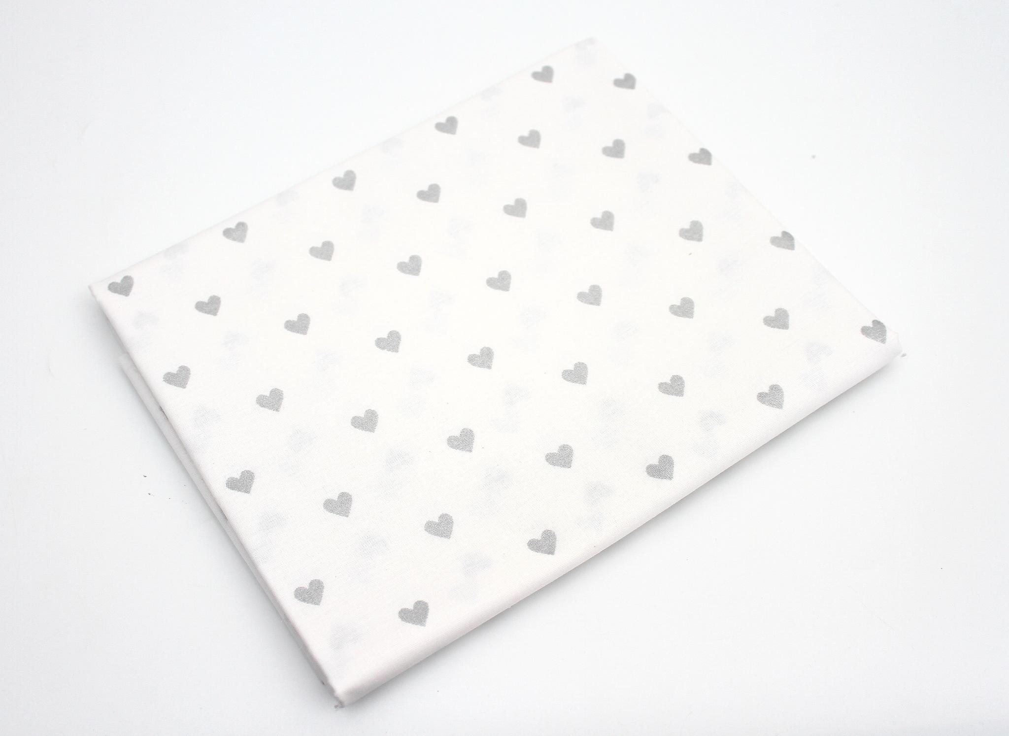 Сердечки глиттер серебро,Турция,240 см