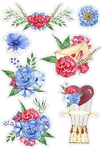 Печать на вафельной бумаге, Набор цветы 2