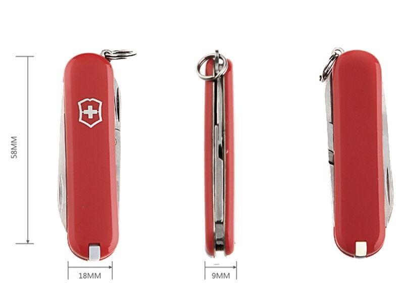 Нож-брелок Victorinox Classic (0.6223) 7 функций, 58 мм. в сложенном виде | Wenger-Victorinox.Ru