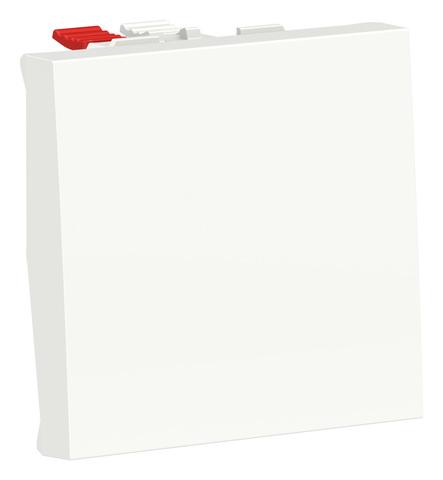 Выключатель кнопочный одноклавишный. 2 модуля. Цвет Белый. Schneider Electric. Unica Modular. NU320618