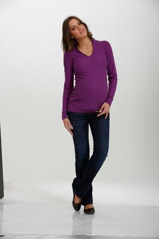 Джемпер для беременных 03792 фиолетовый