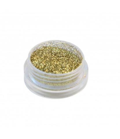 Блестки 3 гр+ баночка золотые светлые