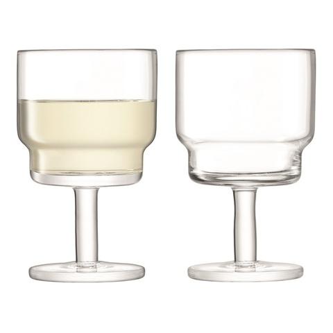 Набор из 2 бокалов для вина Utility, 220 мл, прозрачный