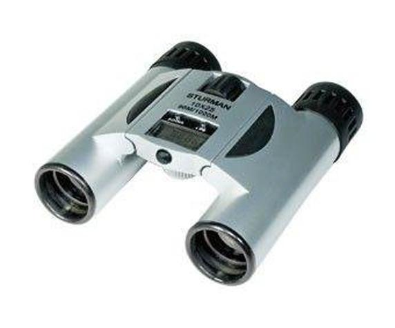 Бинокль Sturman 12x25 с термометром и часами - фото 1