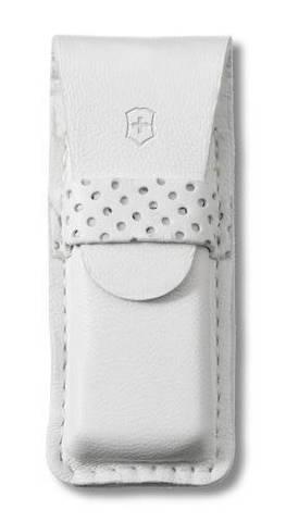 Чехол кожаный Victorinox, белый для ножей-брелоков Classic и TOMO