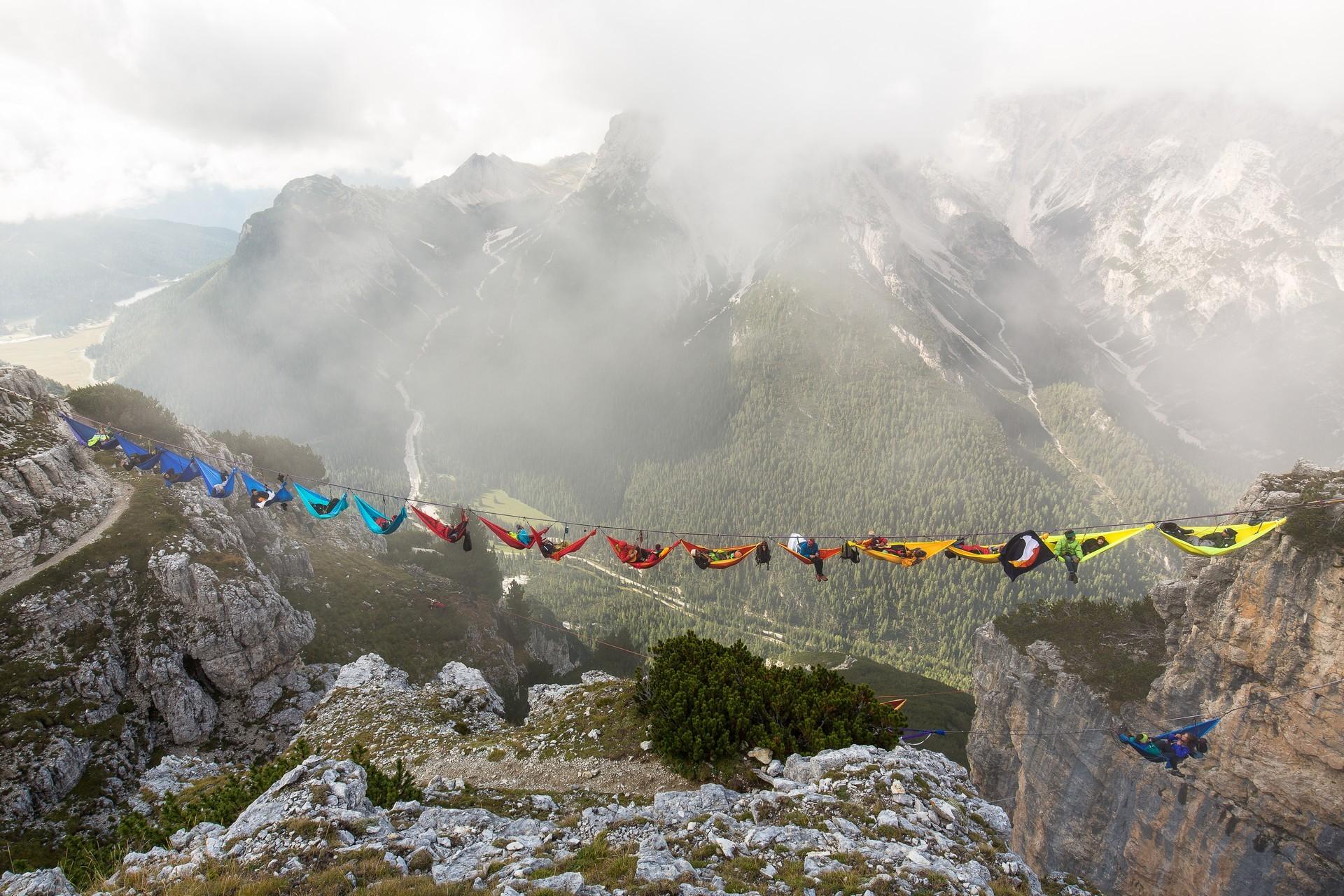 Наш экстремальный отдых. Лагерь гамаков в туманных горах.