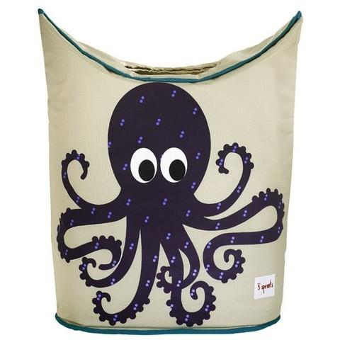 Корзина для белья 3 Sprouts Осьминог (Purple Octopus) 00013/3 Sprouts