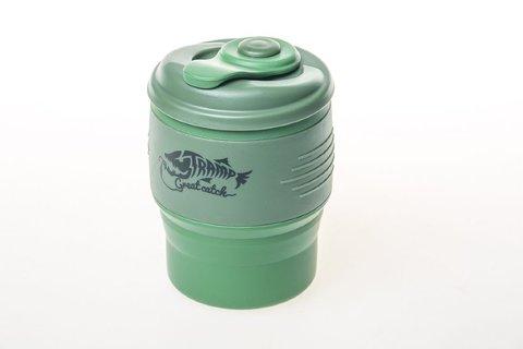 Кружка силиконовая складная 350 мл Tramp TRC-082 (т.зеленый/оливковый)