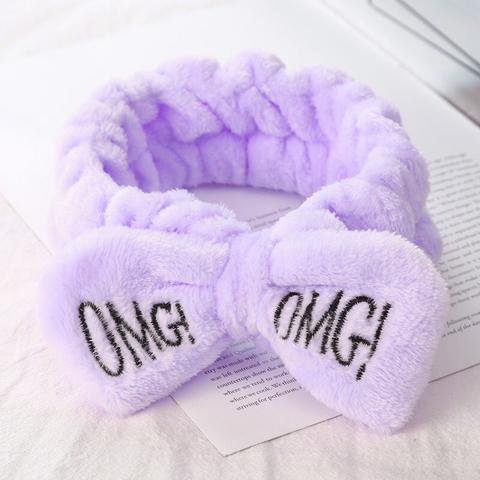 Повязка для волос OMG, фиолетовая