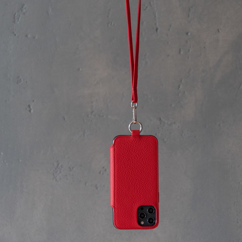 Чехол Marcel для iPhone 12 Pro Max из натуральной кожи теленка, красного цвета