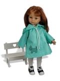Плащ с аппликацией - На кукле. Одежда для кукол, пупсов и мягких игрушек.