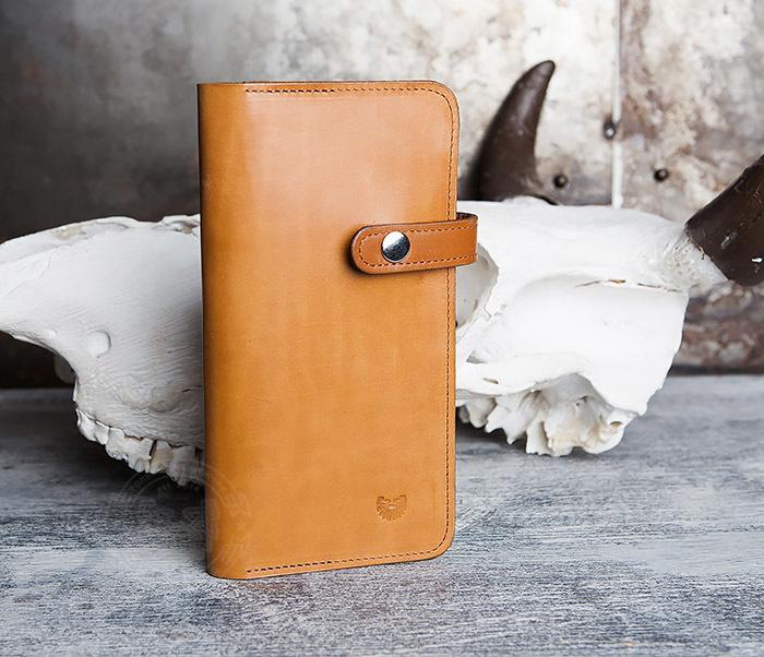 WB111-2 Длинный кошелек ручной работы из натуральной кожи. «Boroda Design»