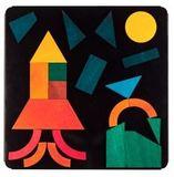 Набор геометрических фигур на магнитной доске