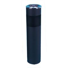 Урна с емкостью для пепла 10 л (оцинкованная сталь, хромированная, цвет черный)