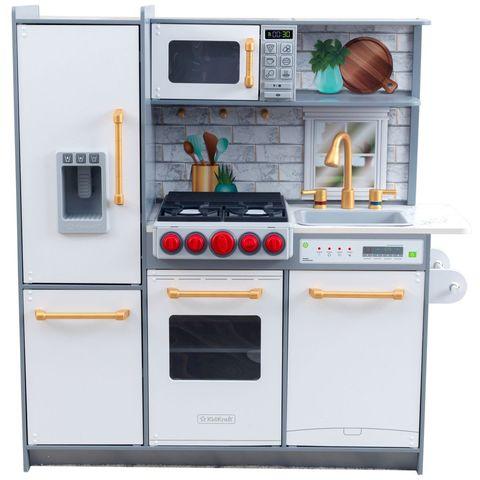 KidKraft Uptown Elite белая - детская интерактивная кухня 53437_KE