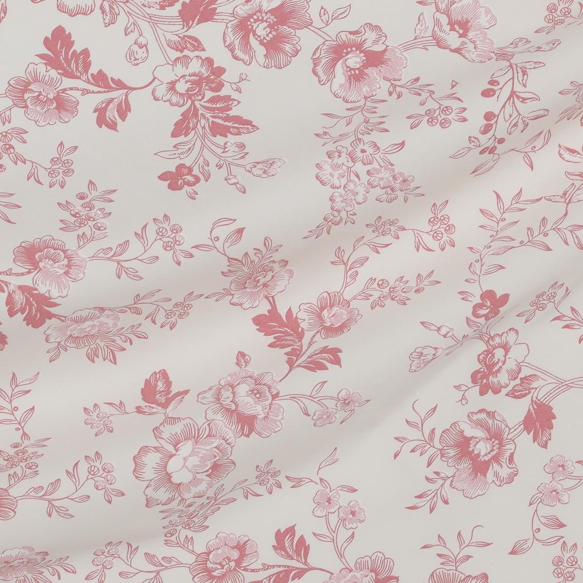 Хлопок с цветочным мотивом розового цвета