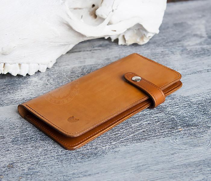WB111-2 Длинный кошелек ручной работы из натуральной кожи. «Boroda Design» фото 02