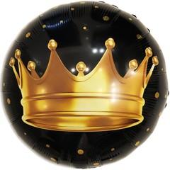 К Круг, Золотая корона, Черный, 18