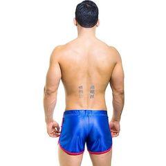 Мужские шорты синие Andrew Christian Blue Sport Shorts  9372