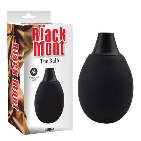Черная резиновая груша для интимного душа The Bulb