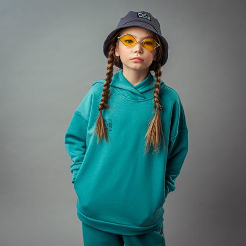 Bb team oversized hoodie for teens - Aquamarine