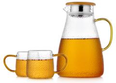 Кувшин для воды 1,8 литра стеклянный с крышкой фильтром (набор)