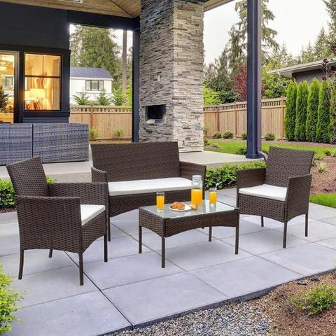 Комплект плетеной мебели AFM-2025A Brown