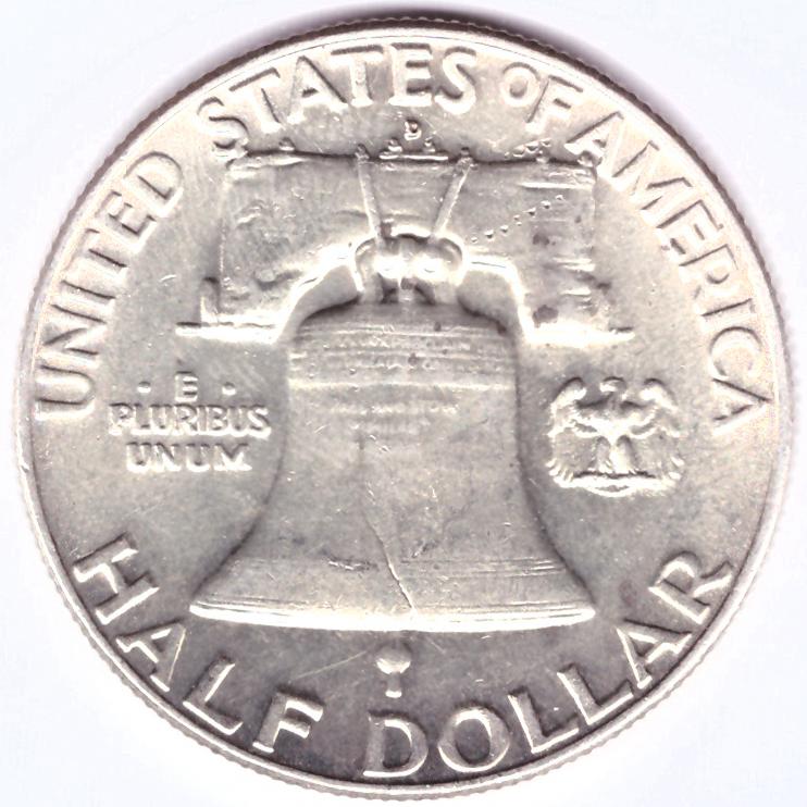 1/2 доллара 1963 (D). США (Франклин). VF-XF