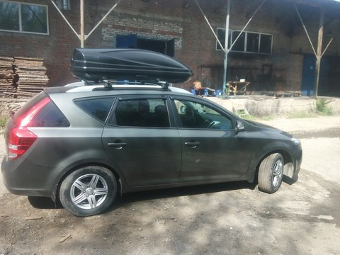 Автобокс Way-box 460 литров  на Kia Ceed универсал