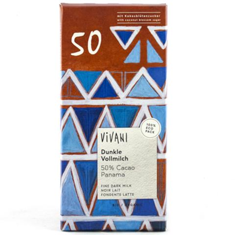 Vivani, Темный молочный шоколад 50%. Vivani, 80 г