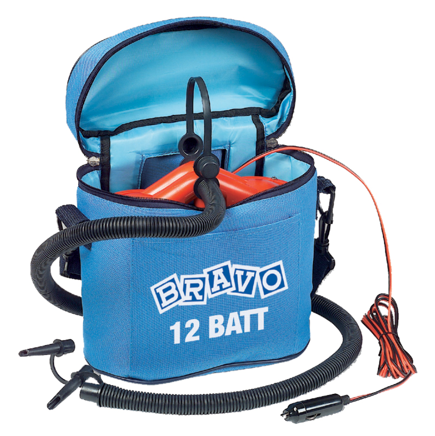 Auto Boat inflator 12V with recharger battery, 300mbar, 150lt/min