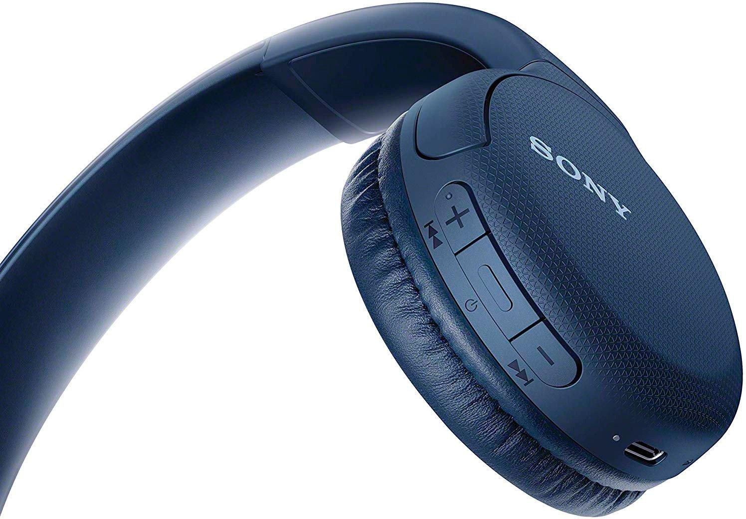 Беспроводные наушники Sony WH-CH510L синего цвета