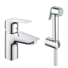 Смеситель для раковины с гигиеническим душем Grohe BauEdge 23757001 фото