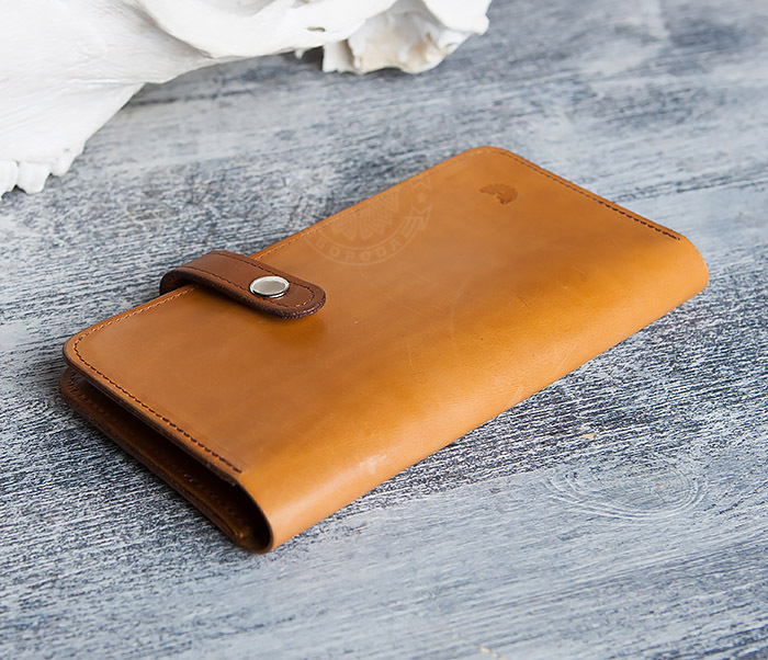 WB111-2 Длинный кошелек ручной работы из натуральной кожи. «Boroda Design» фото 03