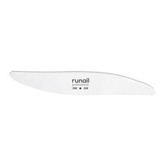 """ruNail, Пилка для искусственных ногтей """"Лепесток"""", белая, 200/200"""