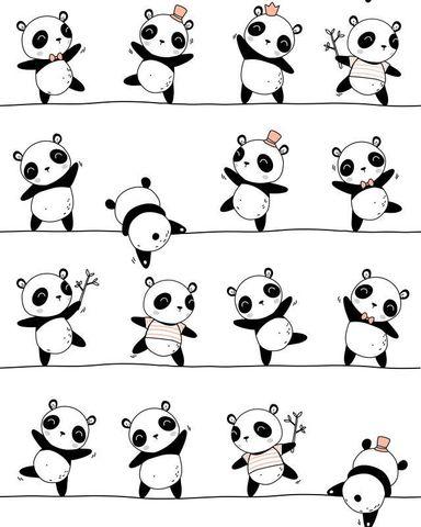 Ткань хлопковая панды. Отрез 50*80 см