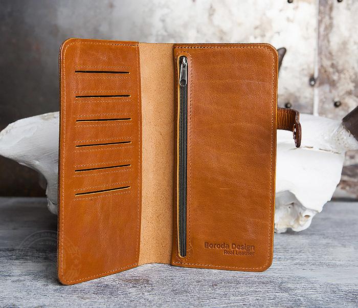 WB111-2 Длинный кошелек ручной работы из натуральной кожи. «Boroda Design» фото 04