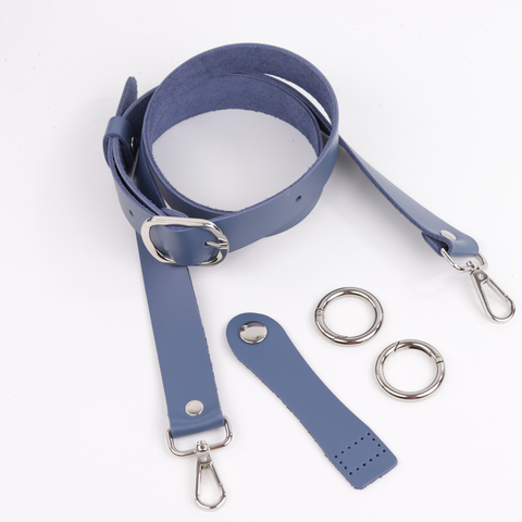 """Комплект для сумки-ракушки """"Синий"""" с ручкой через плечо и карабинами"""