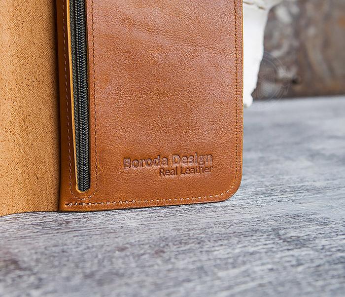 WB111-2 Длинный кошелек ручной работы из натуральной кожи. «Boroda Design» фото 05