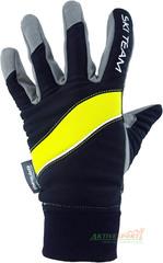 Перчатки лыжные Ski Team K18003BL черно/салатовые - 2