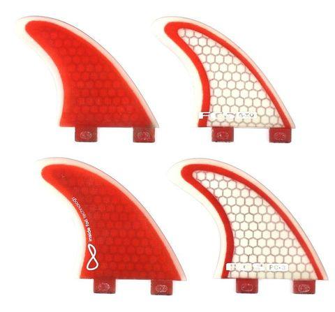 Плавники FCS Q-PC-3 (PC-3 with G-XQ sides) Quad, компл. из четырех, S