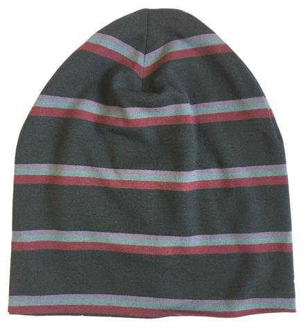 Детская полосатая шапочка бини