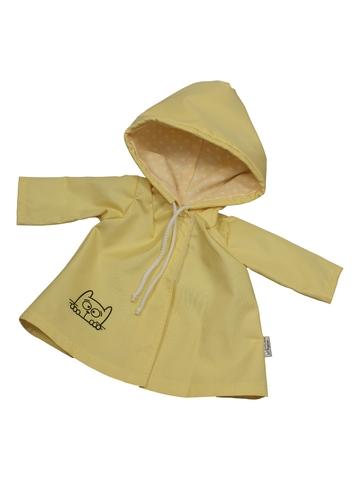 Плащ с аппликацией - Желтый. Одежда для кукол, пупсов и мягких игрушек.