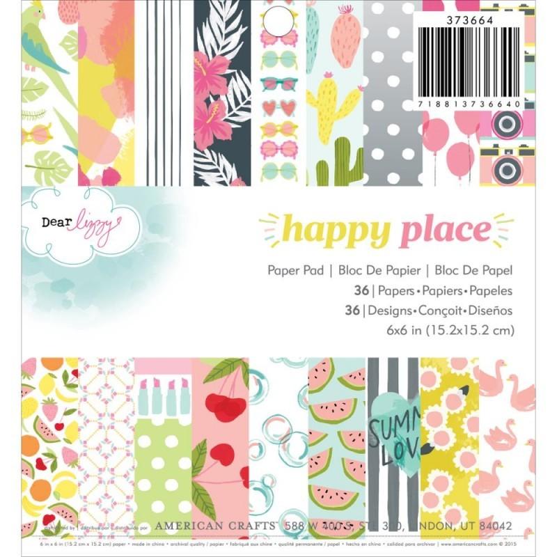Набор односторонней бумаги  Dear Lizzy Happy Place 15х15см