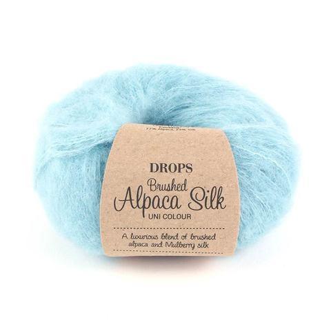 Пряжа Drops Brushed Alpaca Silk 15 светлая бирюза