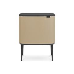 Мусорный бак Touch Bin Bo (3 х 11 л),  Минерально-золотой