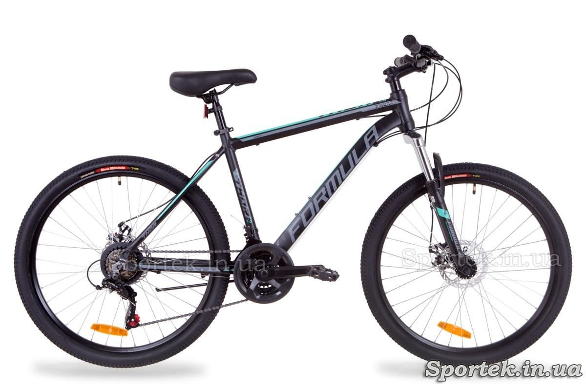 Горный алюминиевый велосипед Formula Thor 1.0 черно-серый с бирюзовым