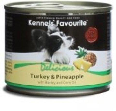 Kennels' Favourite Turkey & Pineapple Индейка и Ананас. Консервы для собак 200 г.