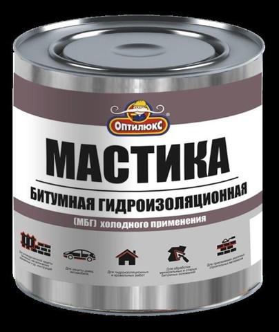 Мастика битумно-резиновая Оптилюкс (10кг) ведро