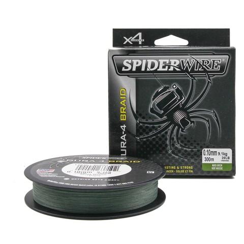 Плетеная леска Spiderwire Dura4 Braid Темно-зеленая 300m 0,10m Mgrn